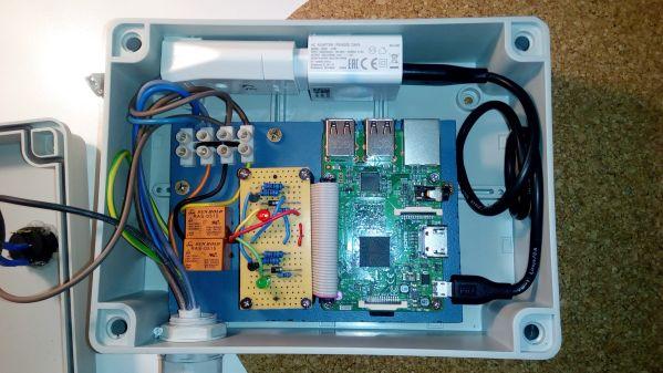 Raspberry pro ovládání terčů - zapojení, mechanické provedení